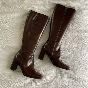 NWOT SAKS FIFTH AVENUE vintage leather boots